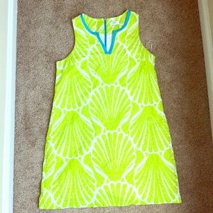 Crown and Ivy Lime Green and Turquoise Dress